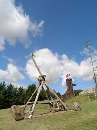 Siege weapon at Mountfitchet Castle
