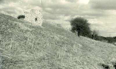 Mountfitchet Castle - Stone remains